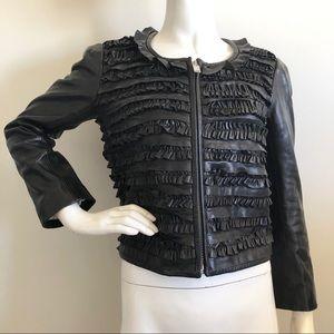 ISABEL MARANT Etoile Black Lamb Leather Jacket